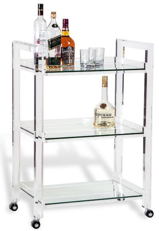 acrylic-and-glass-cart