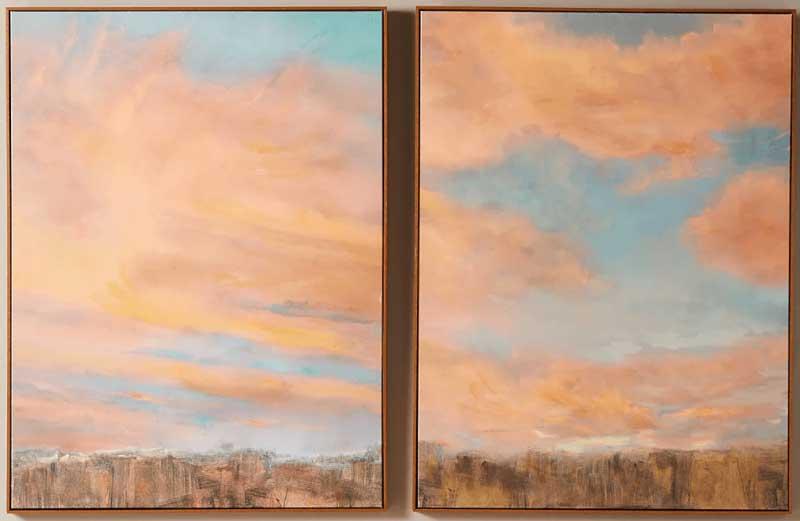 running-sunset-wall-art