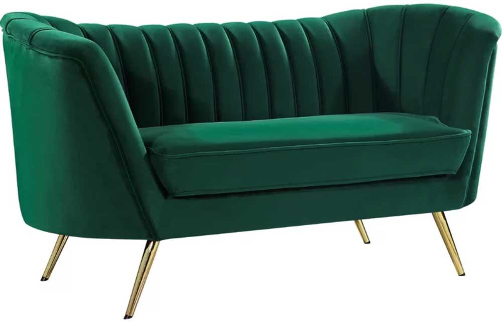 channel-back-velvet-sofa