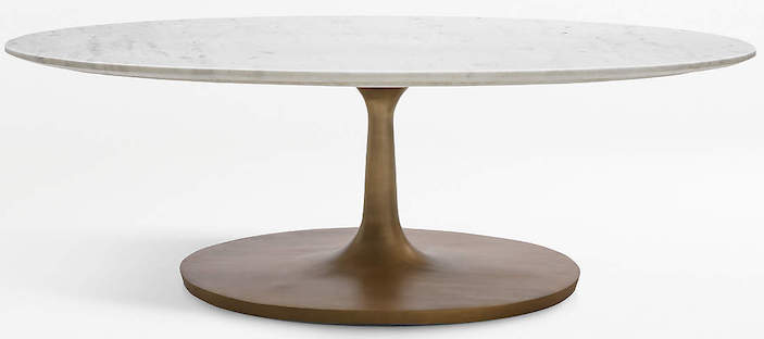 white-marble-oval-coffee-table