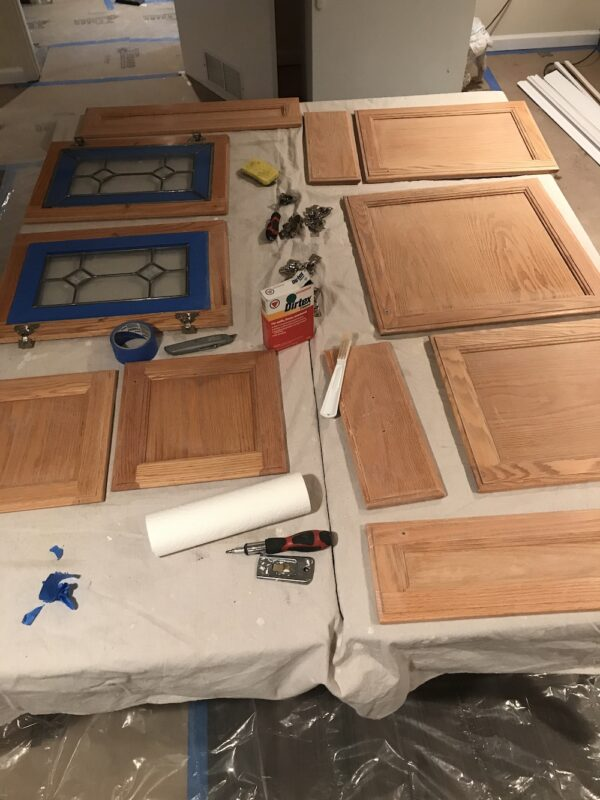 how-to-paint-kitchen-cabinets-sand