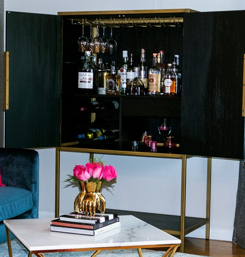18 Bar Cabinet Ideas That'll Keep Your Alcohol Organized (It's 5:00 Somewhere)