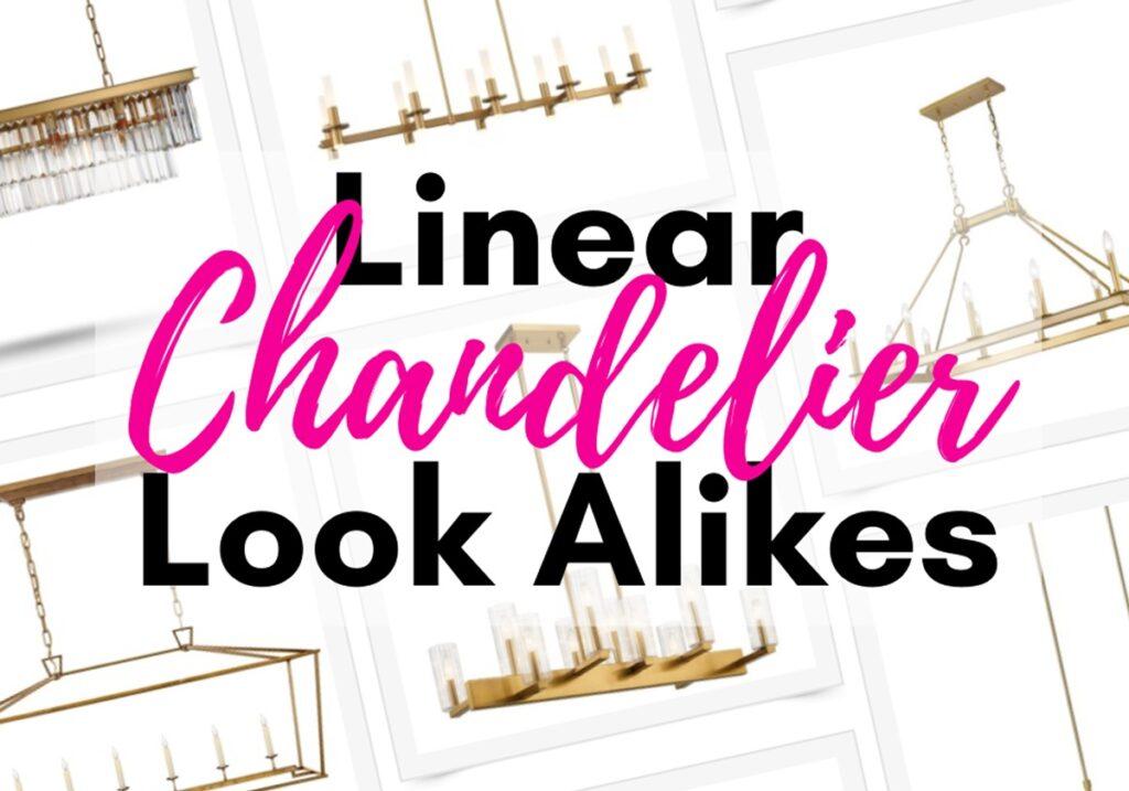 linear-chandelier gold