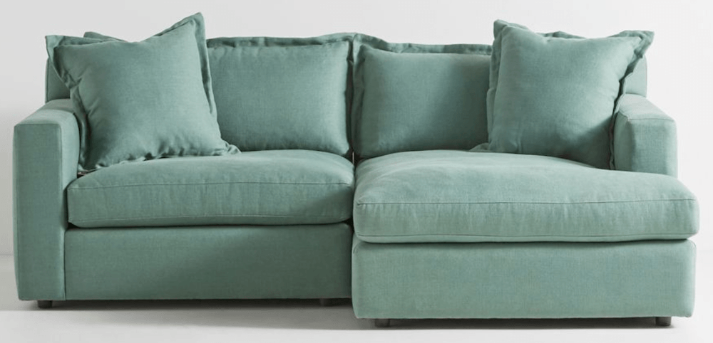 mint-green-chaise-sectional sofa