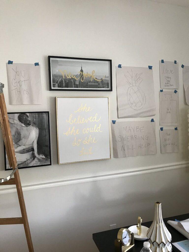 DIY-art-gallery