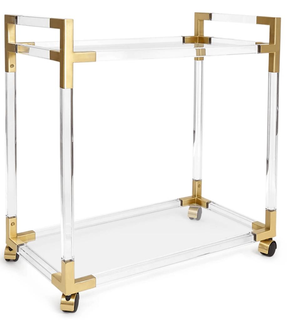 lucite-gold-bar-cart