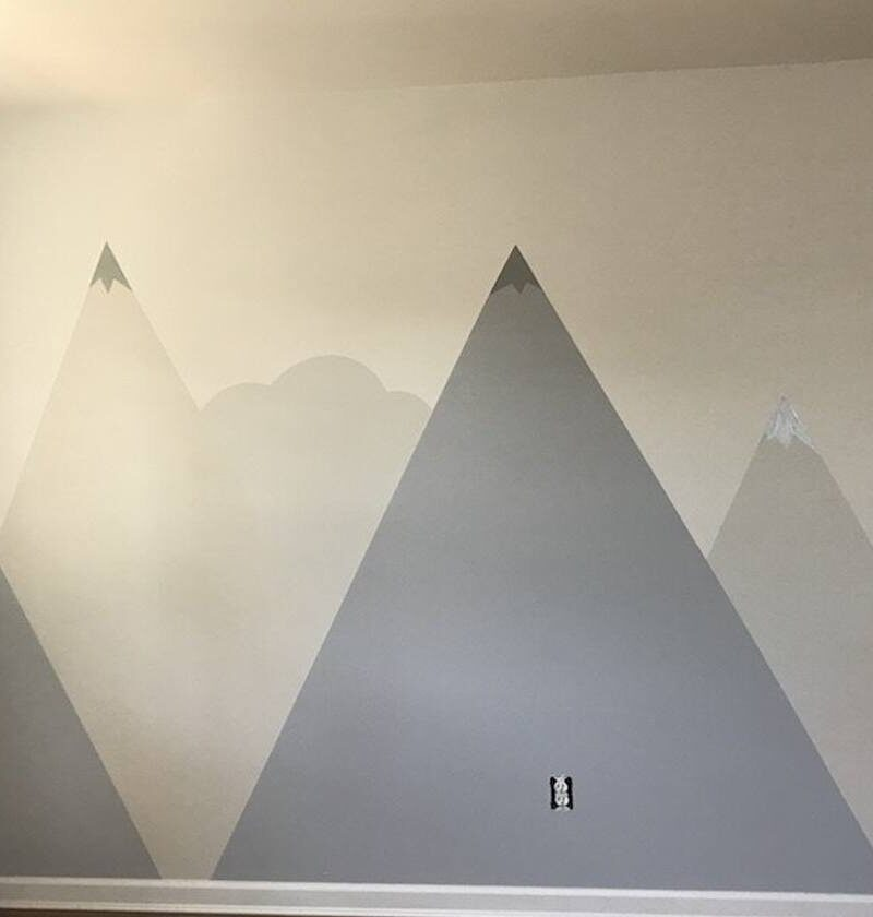 How To Paint A DIY Nursery Mountain Mural In 7 Easy Steps