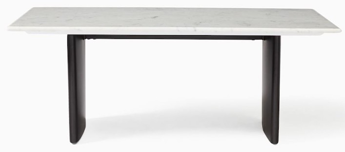 white-and-black-marble-coffee-table