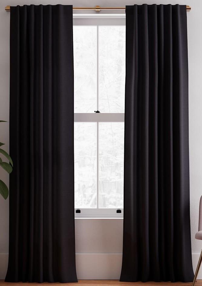 black-linen-curtain