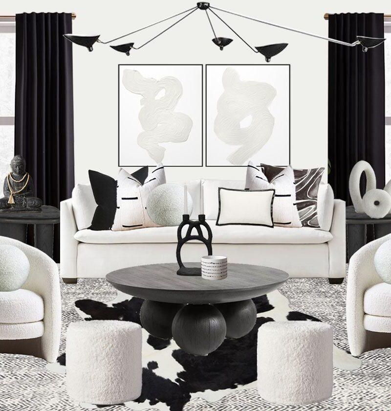 black-and-white-home-decor