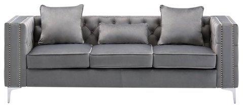 grey-tufted-velvet-sofas