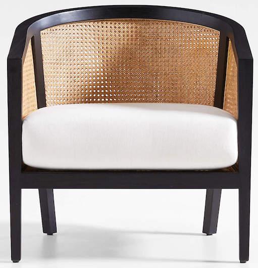 black-cane-accent-chair