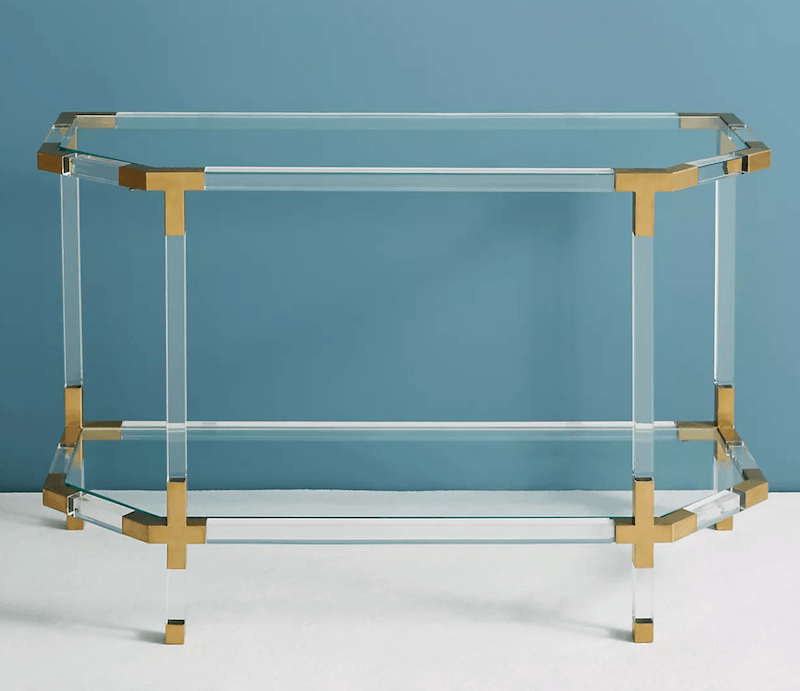lucite-entryway-table