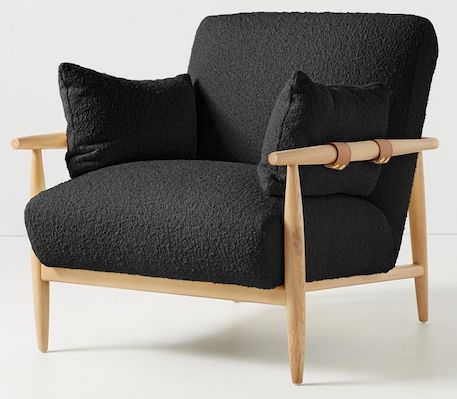 black-boucle-accent-chair