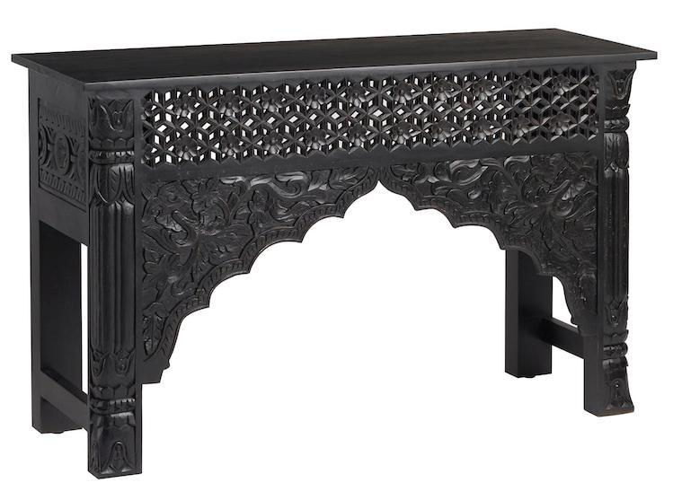 black-carved-wood-table