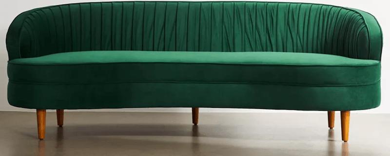 best-affordable-couch-green-velvet-sofa