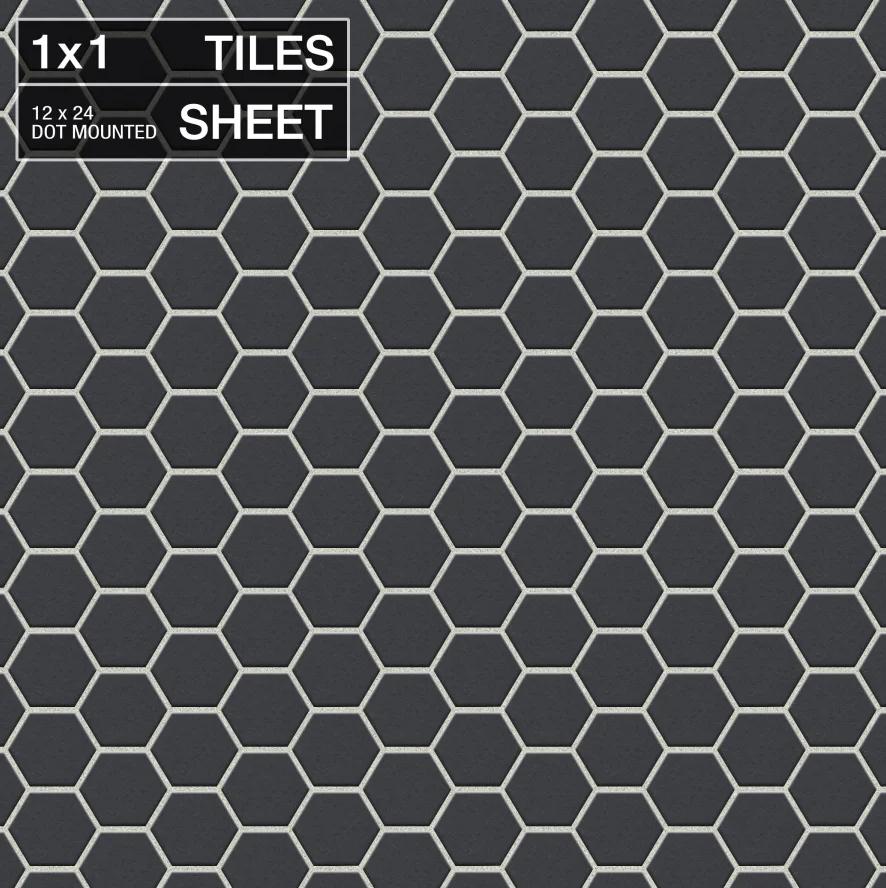 black-hex-tile