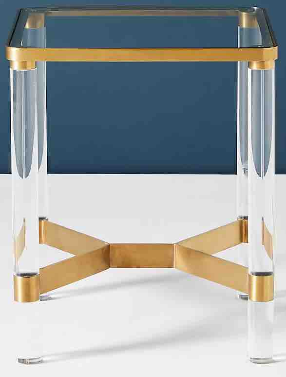 lucite-and-gold-side-table