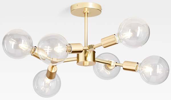 gold-semi-flush-light