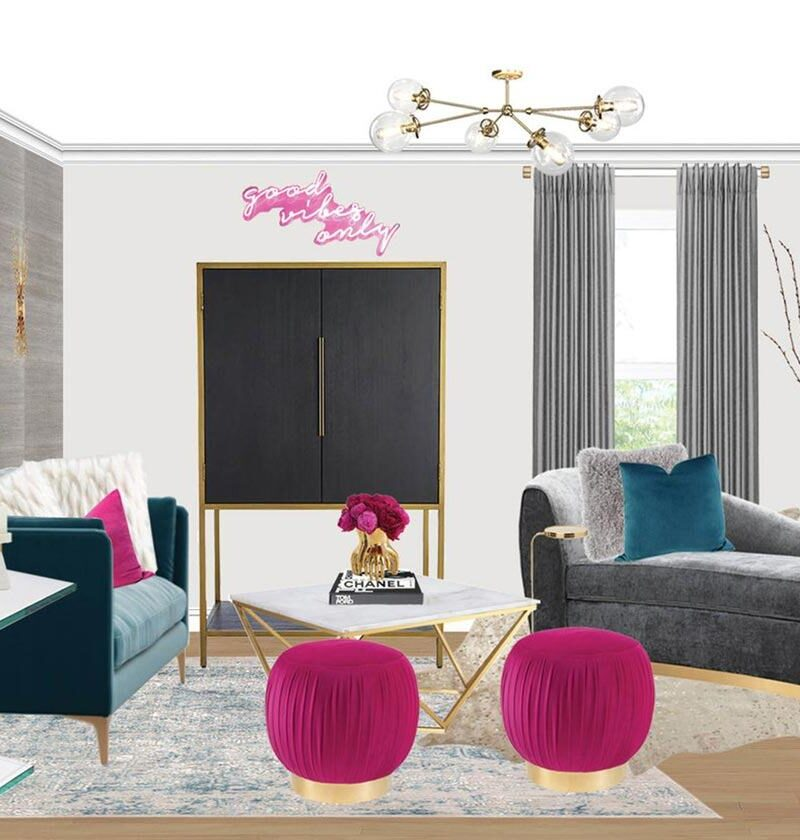 Sitting Room Design With Colorful Artwork (You'll Totally Be Obsessed)