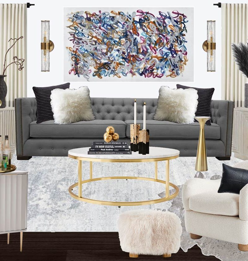 Grey Modern Living Room Design That You'll Totally Want to SHOP THE LOOK