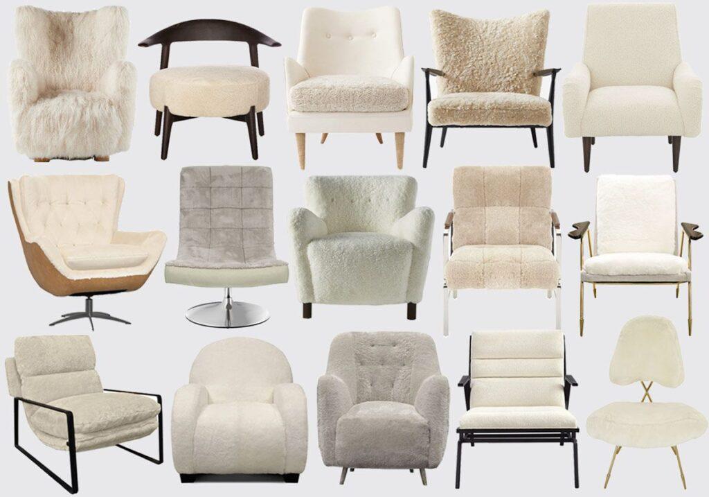 shearling-chair